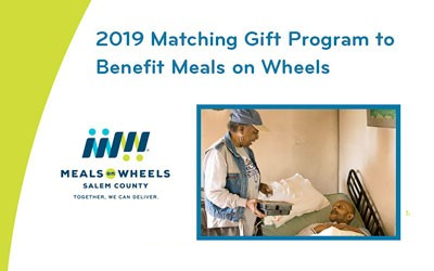 2019 Matching Gift Program to Benefit Meals on Wheels