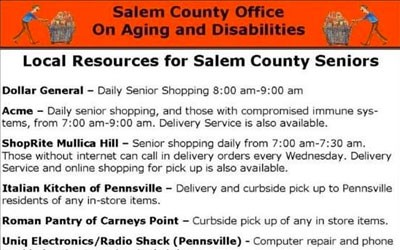 Local Resources for Salem County Seniors