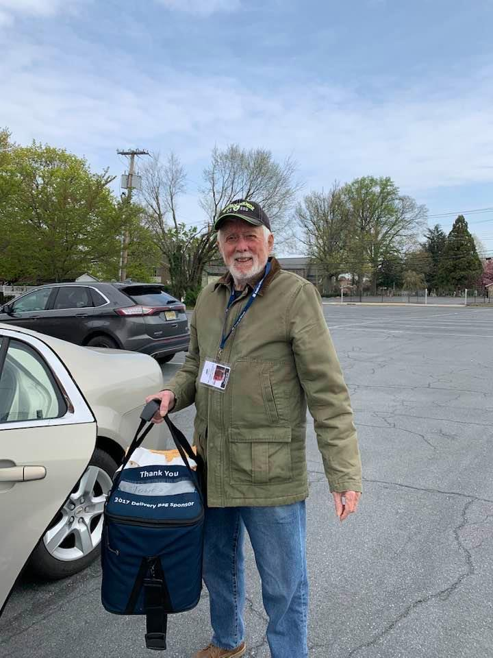 Ken Smith getting ready to deliver meals.