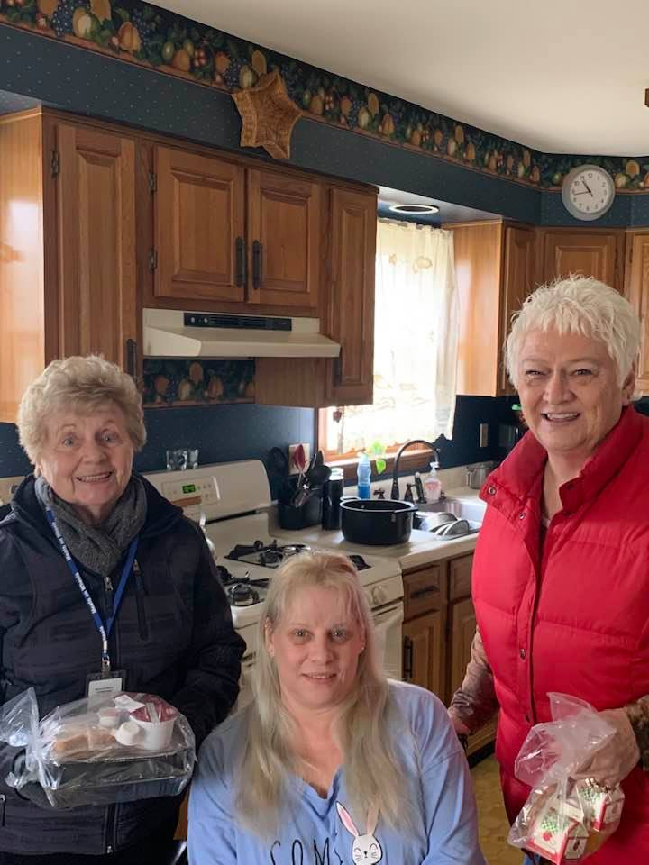 Priscilla & Karen Sparks with one of our meal recipients