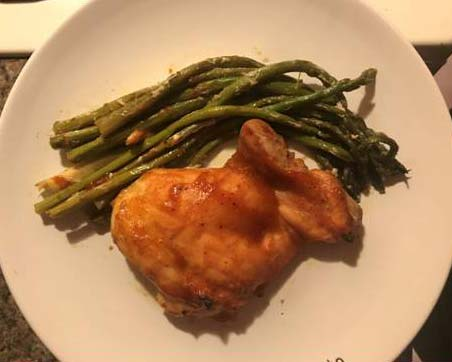 Honey BBQ Chicken with Asparagus